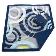 JJ Cole Essentials Blanket, Blue Orbit