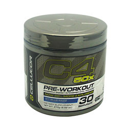 Cellucor G4 Chrome Series C4 50x Blue Razz 30 Servings