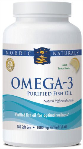 Nordic Naturals Omega-3 Formula,1000mg 180-Count (lemon)