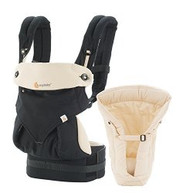 ERGObaby Four Position 360 Bundle of Joy, Black Camel