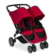 Britax 2016 B-Agile Double Stroller, Red