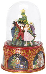 Glitterdomes 120mm Exclusive Nutcracker Ballet Musical Glitter Dome, Features Clara and The Nutcracker, 8-Inch
