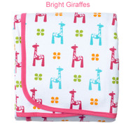 JJ Cole Receiving Blanket - Bright Giraffes