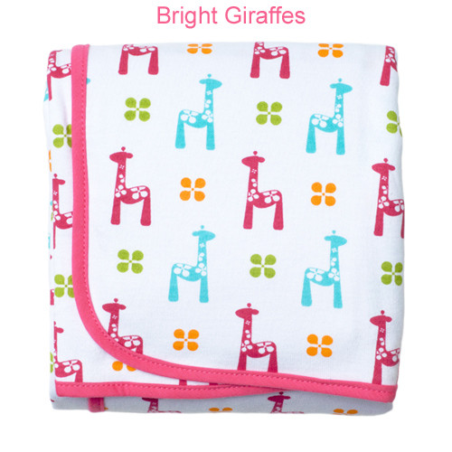 JJ Cole Receiving Blanket - Bright Giraffes