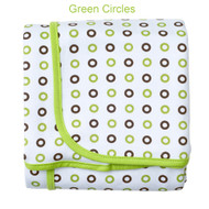 JJ Cole Receiving Blanket - Green Circles