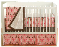 JJ Cole Pink Vintage 4 Piece Bedding Set