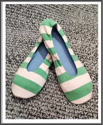 RIW Indoor Tee Shoes Blue/Yellow Stripe