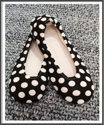 RIW Indoor Tee Shoes Black Shoes with White Dot