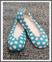 RIW Indoor Tee Shoes Light Blue with White Dot