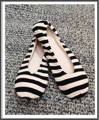RIW Indoor Tee Shoes Black/White Stripe
