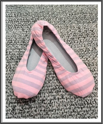 RIW Indoor Tee Shoes (L Size) Pink/Grey Stripe