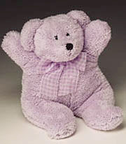 """Lou"", the lavender teddy bear - lilac"