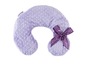 Lilac Dot Neck Pillow