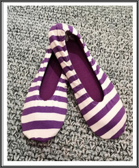 RIW Indoor Tee Shoes White/Purple Stripe