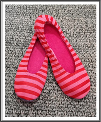 RIW Indoor Tee Shoes (L Size) Red/Pink Stripe