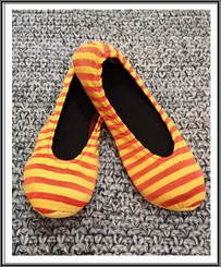 RIW Indoor Tee Shoes (L Size) Yellow/Orange Stripe