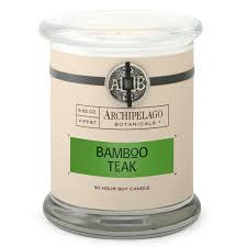 Archipelago Bamboo Teak Glass Jar Candle