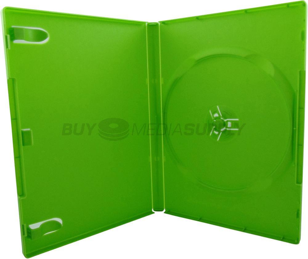 14mm standard green 1 disc dvd case