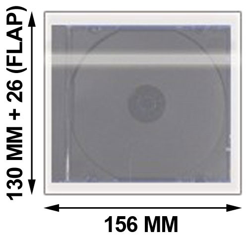 NEW 1000 OPP Resealable Plastic Wrap Bags for Standard 5.2mm CD Slim Jewel Case