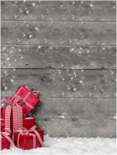 Christmas presents photography backdrop