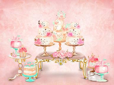 yummy cake stand photographers backdrop