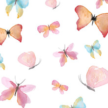 Really soft delicate hand painted butterfly backdrop .