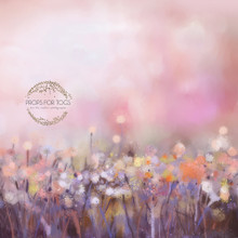 Pink and peach bokeh flower photographer backdrop