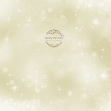 Golden snowflake (SQUARE SHAPED) photographer backdrop