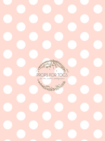 Shabby chic large pink polka dots photographer backdrop