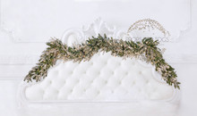 Photographers christmas headboard backdrop 001 ... you can choose to have with more sparkle lights or with just tiny bit .please put in the notes which you prefer with sparkle 002 or simple 001 Liz wood photography design ... this is sparkle 001