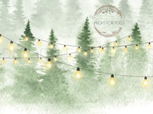 this is exclusive to P4T's Xmas green trees with  lights Christmas photographer backdrop
