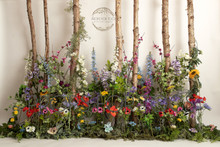 gorgeous wild meadow flower photography backdrop.you can have this stunning backdrop as a wall only or choose to have a floor attached, please tell us in your notes which you would like printing.