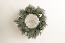 Elegant simple Xmas wreath 9034  ..