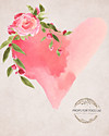 Beautiful simple  Valentine  painted photographers backdrop-  Elite heart --  Photography Backdrop  The size shown is 60 x 80 and other sizes will be cropped, please contact us if you have any questions  matching Floor area is available to match