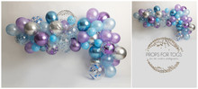 Beautiful Blue, lavender and silver balloon garland perfect for boy and girls cake smashes This is availabe as just a wall in a landscape style... or with a floor added ready for your shoots Portrait Please say in your notes which you would like portrait or landscape, with a floor or without