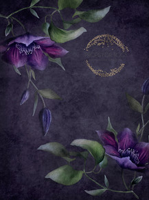 stunning deep purple fine art floral backdrop