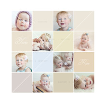 Alve Liten - Collage Template 20 x 20 - Fully Layered PSD file
