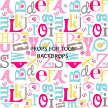 Fun Letters large Photography Backdrop