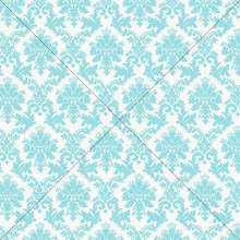 Blue Damask Photography Backdrop