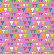 Colourful Party Bunting Photography Backdrop