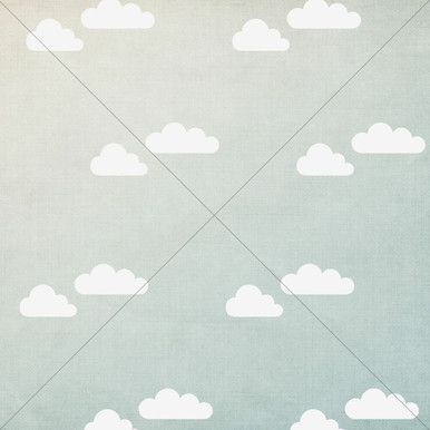 Green Sky with clouds photo backdrop