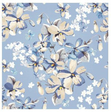 Blue floral photography backdrop