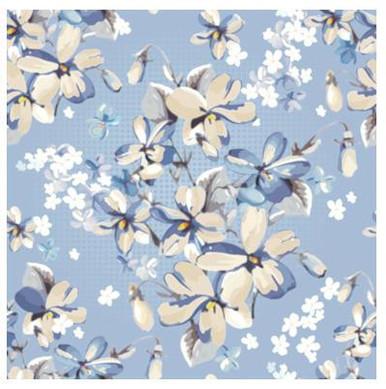 Blue floral photography backdrop