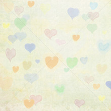 Pastel Heart Design Photo Backdrop