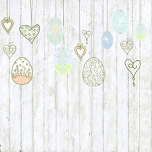 Faux Floor Photography Backdrop with Easter Egg Design