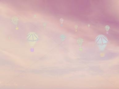 Whimsical hot air balloon photography backdrop