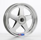 """10x2 Spoked Aluminum Wheel, 5/8"""" Bearings"""