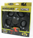 "Wheelies  8"" Black Wheel Covers Free Shipping"