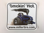 Smokin' Hot Blue Decal