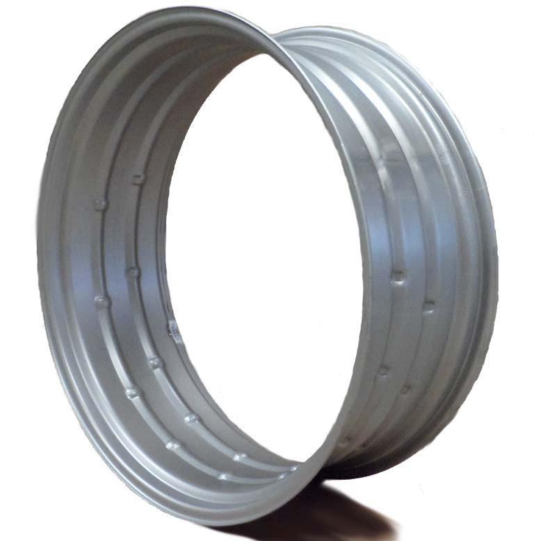 38x10 Double Bevel Rim Silver M E Miller Tire